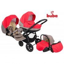 Бебешка количка 3в1 Buba City, Сива/Корал