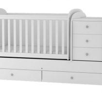 Трансформиращо се детско легло Baby & Junior Бяло 120 x 70