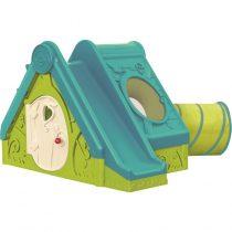 Пластмасова къща с пързалка и тунел Keter Funtivity, Зелена/Синя