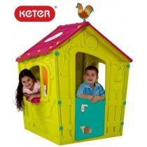 Пластмасова къща за игра Keter Magic Playhouse, Зелена/Синя/Розова