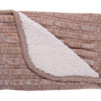 KIKKABOO Бебешко плетено одеяло 50/50 см ШЕРПА BEIGE MELANGE