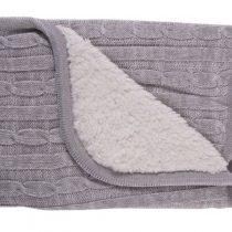 KIKKABOO Бебешко плетено одеяло 50/50 см ШЕРПА GREY MELANGE