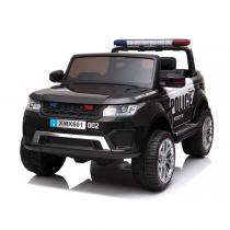 Eлектрически джип POLICE за две деца, черен