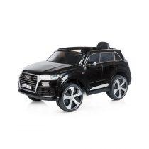 Eлектрически джип AUDI Q7, меки EVA гуми, черен