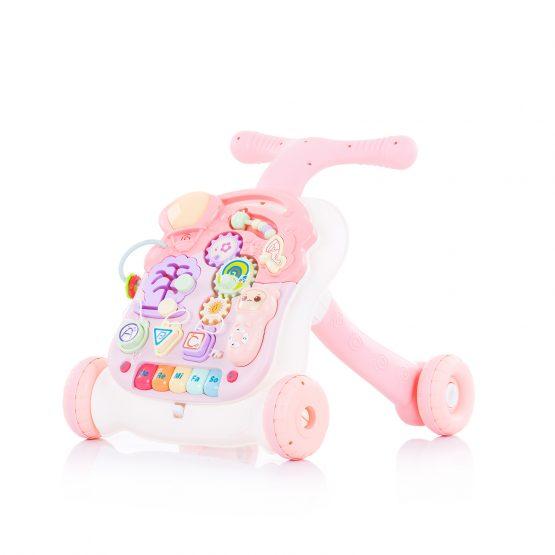 """Музикална играчка на колела 2 в1 """"Мулти""""розова"""